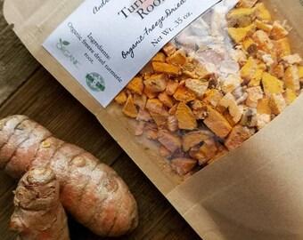Organic Freeze Dried Turmeric Root, Organic Loose Leaf Tea Herb, Herbal Tea, Organic Freeze Dried Herbs, Turmeric Root
