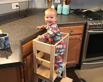 Helping Toddler Learning Tower