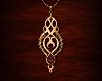Swirly Moon shrine, garnet jewelry, citrine jewelry, Labradorite jewelry, Amethyst jewelry, lapis jewelry, moon necklace, crystal necklace