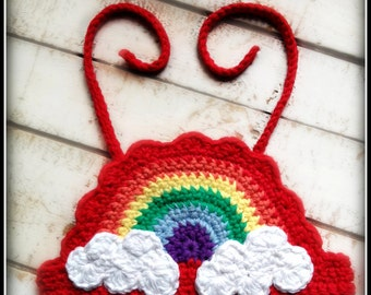 Crochet Rainbow Halter Pattern ~ Size 6-12 mths ~ Rainbow Halter ~ Rainbow Crochet Pattern