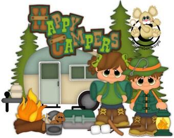Summer Die Cuts, Camping Scrapbook, Camping die cuts, Scrapbooking Die cuts, Camping, Die Cuts, Scrapbook, Scrapbooking, card making