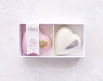Heart Soap Set, Heart Soap, Natural Soap, Bridal Shower, Bridesmaid Gift, Handmade Soap, Bonbonniere, Artisan Soap, Gift for her, vegan soap