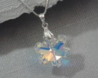 Snowflake Necklace, Snowflake Jewelry, Christmas Necklace, Winter Necklace, Bridesmaid Necklace, Bridesmaid Gift Necklace, Snowflake