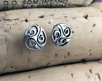 Triskelion Stud  Earrings, Gift for her TRK051