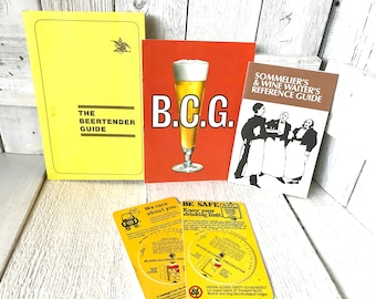 3 vintage bar books beer wine 1970s reference guides/ free shipping US