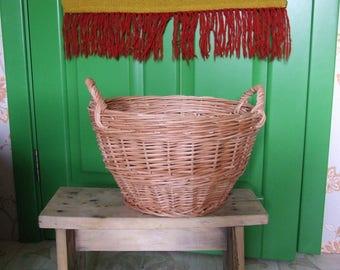 Wicker Laundry Basket Wicker baskets from willow twigs storage baskets