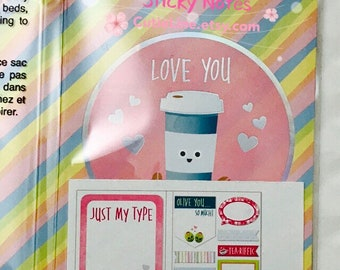 Love You Sticky Notes by Recollections - 160pc/pack - Page Marks/Sticky Pads/Page Notes
