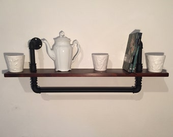 Shelf shelf in hydraulic pipes Vintage/Industrial style.