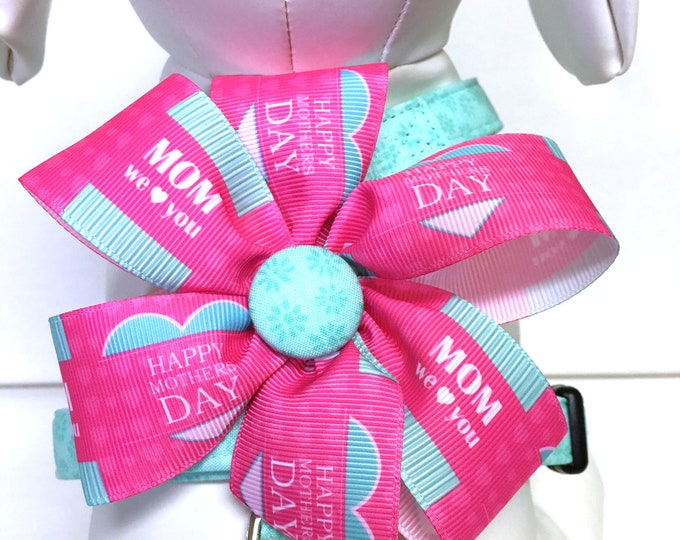 Featured listing image: Dog Mom Harness- The Happy Mothers Day - Adjustable Harness with Removable Bow Gift for Dog Mom