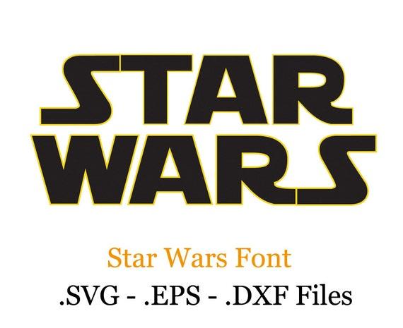 Star Wars Vectors Font Eps Svg Dxf Format Files