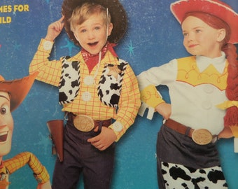 WOODY & JESSIE Costume Pattern • Simplicity 9433 • Childs 3-8 • Woody Costume Pattern • Sewing Pattern • Childrens Costume • WhiletheCatNaps
