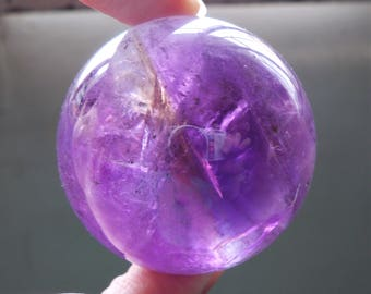 Top Natural Ametrine Quartz Mineral Rainbow Crystal Sphere Ball Reiki Chakra Healing Gemstone Rock - AMT10143