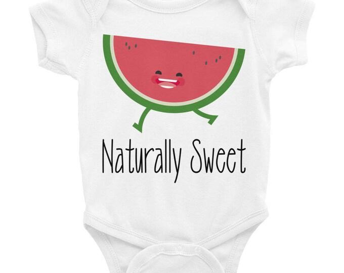 Watermelon Baby Onesie® Bodysuit, Naturally Sweet, one piece baby,  Newborn Baby Fun Watermelon Shirt, One in a melon, watermelon onesie