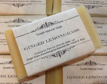 Ginger Lemongrass Natural Homemade Soap, Handmade soap, Natural Soap, Cold Process Soap