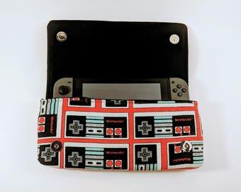 Nintendo Switch Case, Classic NES Case, Gamer Gift, Switch Case, Switch Cozy, Nintendo Gift, Geek Gift, Super NES, Electronic Case