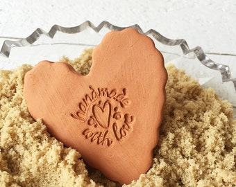 Heart Brown Sugar Saver, Brown Sugar Softener, Sugar Keeper, Brown Sugar Disk, Essential Oil Disk, Gift for Foodie, Baking Accessory