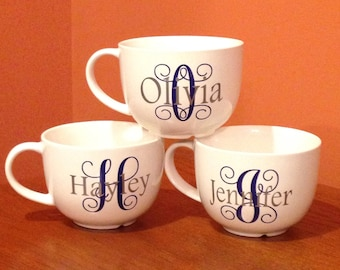 Bridesmaid Coffee Mug, Monogram  Coffee Mug, Initial Coffee Mug