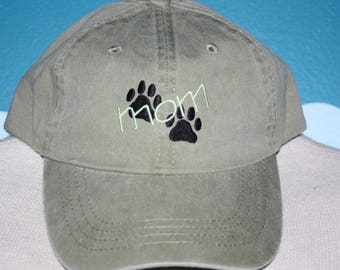 Custom Baseball Cap - Dog Mom Hat - Embroidered Baseball Hat - Personalized Ball Cap - Dog Lover ball cap