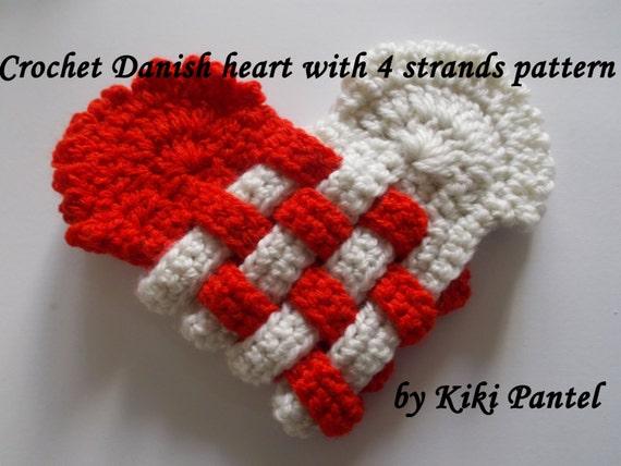 Häkeln Sie dänischen Herz mit 4 Stränge-Herz häkeln Muster
