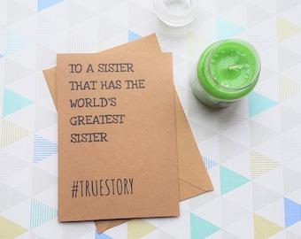 Card for sister, Sister birthday, Birthday card, Gift for sister, Sister gift, Sister card, Sister,Sisters birthday,Big sister,Little sister