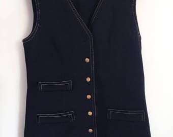 70's Black Jonathan Logan Vest