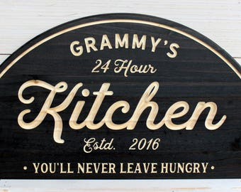 Delightful Kitchen Signs, Kitchen, Personalized Custom Signs, Kitchen Decor, Farmhouse  Signs