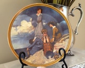 Norman Rockwell Plate - Waiting on the Shore - Decorative Lunch Plate - Knowles 1982, Rediscovered Women Collection