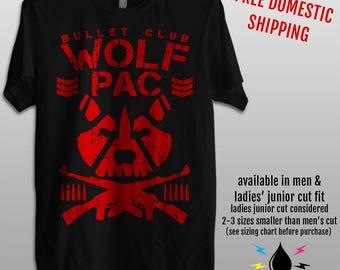 Bullet Club - Wolfpac - NWO - Men's & Ladies' fashion fit tee