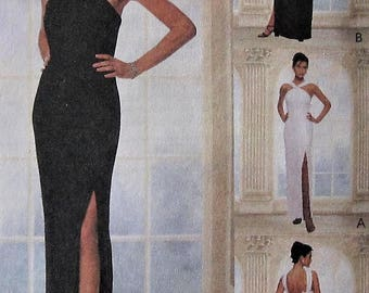 Formal Gown Sewing Pattern UNCUT McCalls 9296 Sizes 12-16 wedding prom dress