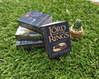 Doll's books : The lord of the ring + hobbit book set for dolls