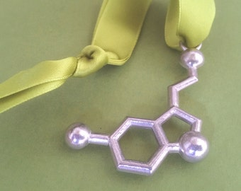serotonin molecule holiday ornament