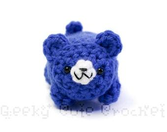 Blue Bear Yami Amigurumi Plush Toy Crochet Stuffed Animal