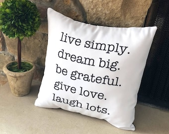 Pillows with Quotes / Farmhouse Decor Pillows / Inspirational Quote / Throw Pillows for Couch / Decorative Pillows for Bed / Farmhouse Look