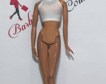 Barbie High Neck Midriff Top Many Colors Available