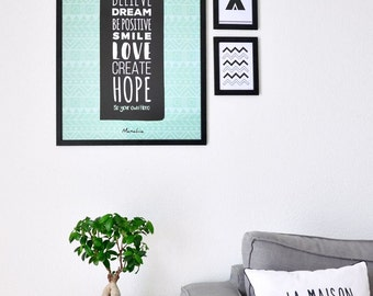 Affiche Be Your Own Hero | 50x70cm