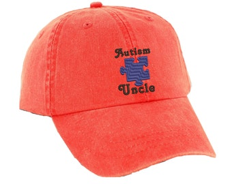 Autism Uncle Ladies Hat.   Baseball Hat. Cool Mesh Lining & Adjustable Strap. 33 Colors Avail. HER-LP101