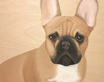 Custom Pet Portrait Wood Panel Personalized Pet Memorial Dog Cat Painting, Birthday Gift Husband Wife Mom Dad For Parent Christmas Holiday