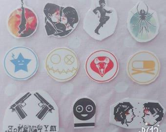My Chemical Romance Temporary Tattoos Set