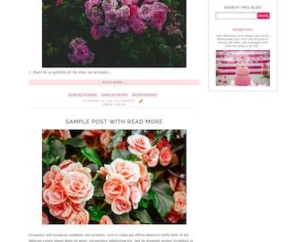 Dazzling Pre Made Blogger Template