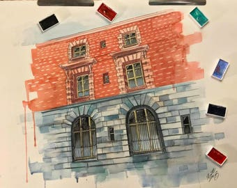 Custom Architectural Illustration (Fine Art or Digital)
