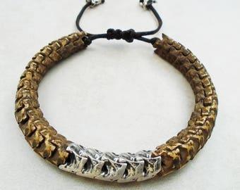 Snake Vertebrae Bracelet / Free US Shipping