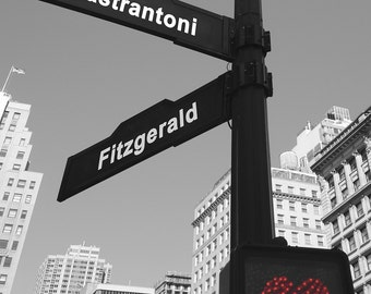 City Street Sign Print, Personalized Street Sign Art, Unique Valentines Day Gift, Gift for Wife, Custom Wedding Card