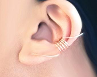 Ear Cuff 14 Karat Gold Filled Swirl Ear Wrap Earcuff (Single)