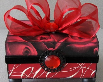 Valentines Day Love Decorative Keepsake Trinket Jewelry Box