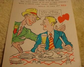Vintage Fifties Paper Valentine MASTER CHISELER