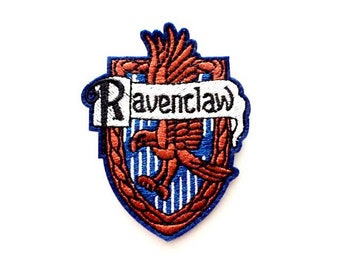 """Ravenclaw Iron on Embroidered patch (W=2.15"""" x L=3.0"""")"""