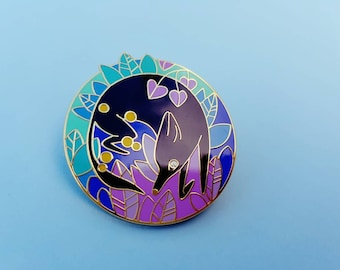 The Night Fox ENAMEL LAPEL PIN