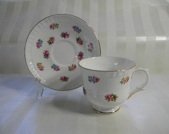 TEACUP, Vintage Crown Staffordshire Bone China Teacup