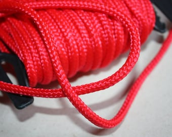 5 mm Braided Cord POLYESTER = 1 Spool = 27 Yards= 25 Meters Elegant Rope Decorative Rope Macrame Rope Macrame Cord Polyester Fabric Red