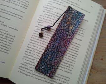 """Aglomera artists"" hand painted leather bookmark"
